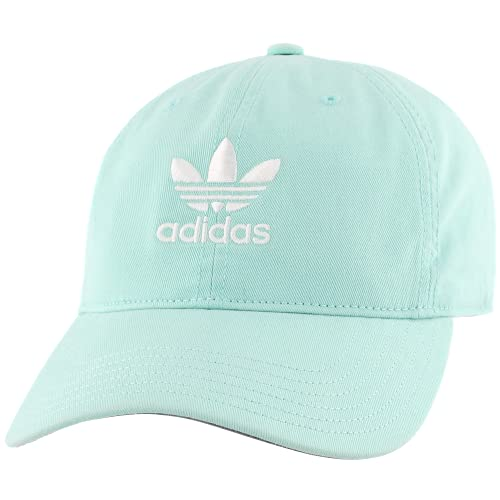 adidas Originals Men's Relaxed Strapback Cap, Clear Mint Green/White, ONE SIZE