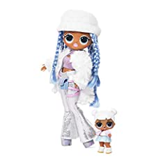 Unbox 25 surprises with L.O.L. Surprise O.M.G. Fashion doll, snowlicious, and her sister, snow angel Snowlicious has stunning features and styled hair, articulated for tons of poses, and she comes with her little sister L.O.L. Surprise! character, sn...