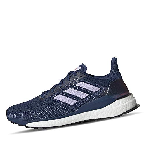 adidas Damen Boost 19 W Laufschuhe, Blau (Indigo TECH/Purple Tint/SOLAR RED), 39 1/3 EU