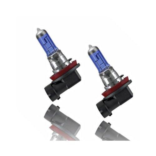 Akhan H1155W - Set di lampadine per fari, effetto Xeno H11 12V 55W, ultra bianchi