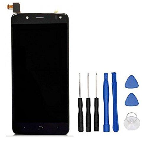 Theoutlettablet - Pantalla LCD Completa LCD capacitiva con tactil digitalizador para Bq Aquaris V / U2 / U2 Lite + Herramientas - Color Negro