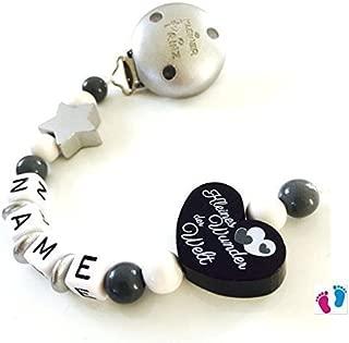 Schnullerkette mit Namen Du Bist Der Schlüssel Zu Unserem Herzen Kleine Prinze.