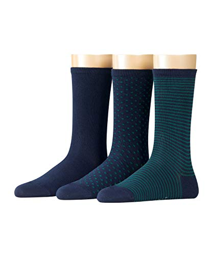 ESPRIT Damen Socken Backstripe 3er Pack - Baumwollmischung, 3 Paar, Blau (Marine 6121), Größe: 36-41