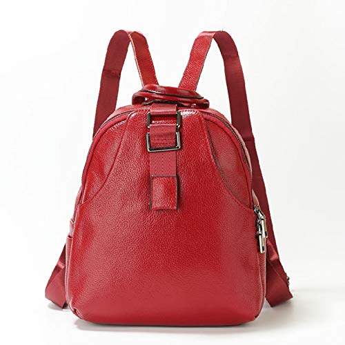 YLLHK Multifunctional Women's PU Leather Backpack, Soft and Comfortable Zipper Shoulder bag, Large Capacity Travel Anti-theft Daypack, Suitable for School, Shopping, Daily Life, 28 * 35 * 11CM,Red