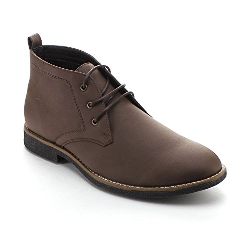 Arider Cooper-03 Men's High-Top Lace Up Chukka Ankle Booties,Brown,8