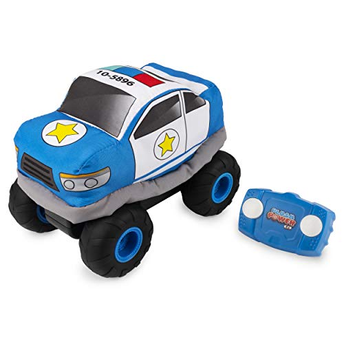 Plush Power RC, Remote Control Police-Car with Soft Body and 2-Way Steering, for Kids Aged 3 and Up