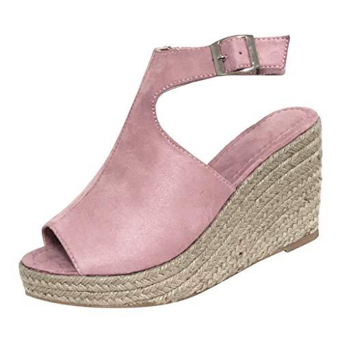 Flying Lisa Women's Buckle Shallow Mouth Casual Shoe High Heel Wedge Heel Female Sandals Round Toe British Wind Wedge Heel hot Green
