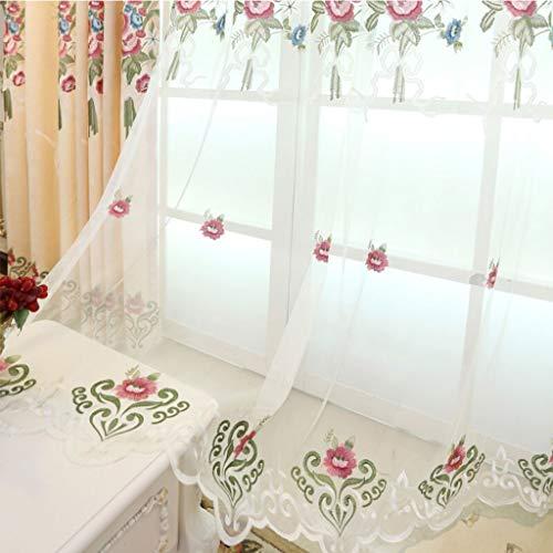 Erker Gordijn, Rose Patroon Gaas Gordijn Soundproof winddicht Window Blinds for de woonkamer Slaapkamer, 100x270CM 414 (Color : Clear, Size : 150x270cm)