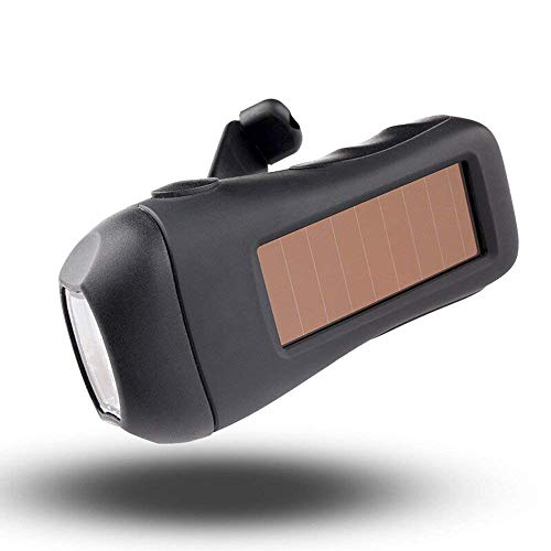 C-Xka La Lampe-Torche Rechargeable Solaire de Voyage en Plein air de LED Peut être Le crémaillère à la Main