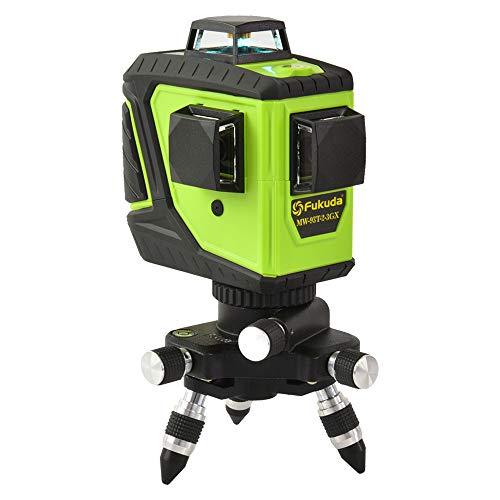 Fukuda 360° フルライングリーンレーザー墨出し器 12ライン 360°垂直*2・360°水平*1 MW-93T-2-3GJ レーザー墨出し器 レーザーレベル 水平器【本体】