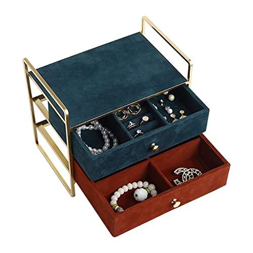 Yousiju Organizador de joyería Collar portátil Pendientes Pendientes Holder Caja de joyería Embalaje Almacenamiento