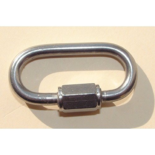 8mm Maillons Rapides Inox 304 Mousqueton Escalade Ovale Vissable Chaine Anneau Quick Link pour Lescalade,Hamacs etc. 3pcs M8