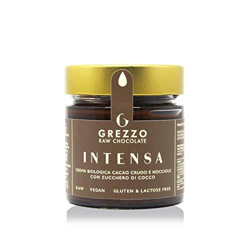 INTENSA - Crema spalmabile biologica al cioccolato crudo e nocciole, di Grezzo Raw Chocolate (180g)