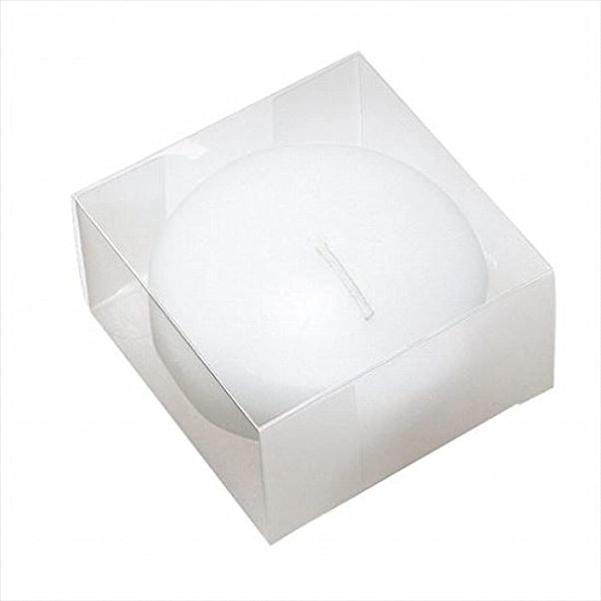 建築家絶望怠なカメヤマキャンドル(kameyama candle) プール80(箱入り) 「 ホワイト 」