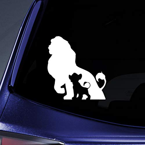Bargain Max Decals Lion Family Sticker Decal Notebook Car Laptop 5.5' (White)
