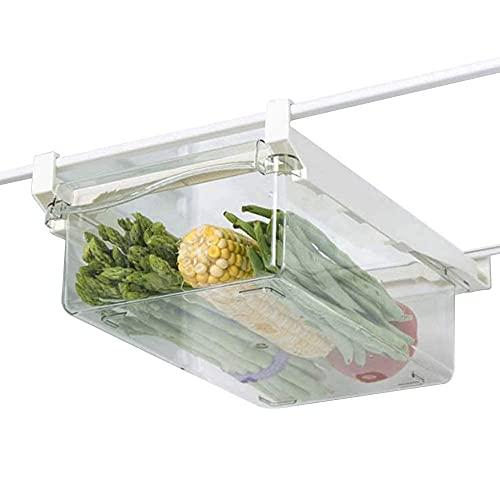 Cajón organizador para frigorífico, caja de almacenamiento para frigorífico, Nevera Envases de plástico para Alimentos, Organizador nevera transparente, para frutas y verduras frigorífico