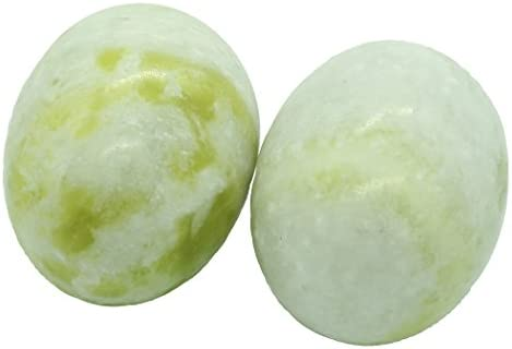 Oval Marble Baoding Chinese Health Exercise Stress Balls in Natural Stone Craft Collection BS174 product image