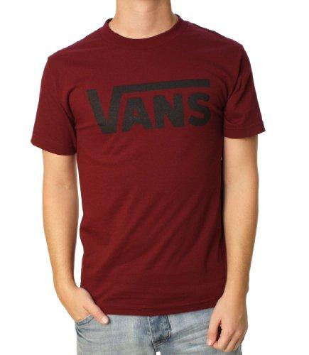 Vans Kurzarm-T-Shirt, klassischer Stil - Rot - Klein