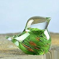 彫刻の彫像手作りのガラスの装飾品の装飾ガラス工芸品の装飾青白い鳥のリビングルーム研究鳥の家の装飾