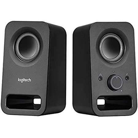 Logitech Multimedia Speakers Z150 with Stereo Sound for Multiple Devices, Black (Renewed)