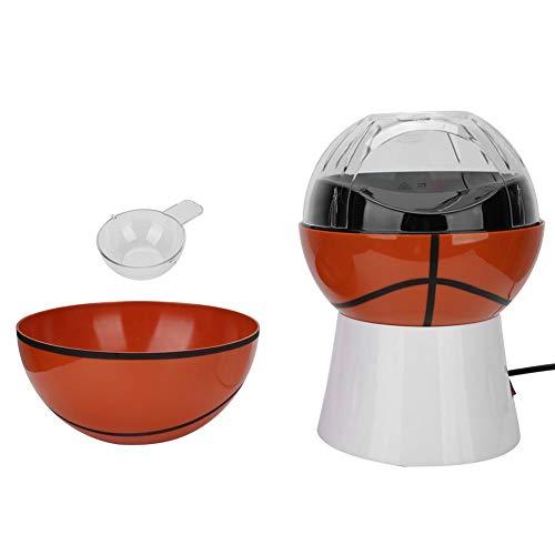MáQuina para Hacer Palomitas de MaíZ, Mini MáQuina EléCtrica de Palomitas de MaíZ con Forma Linda, DiseñO de Apariencia de Baloncesto y Voleibol (Enchufe de la Ue 220V-240V)(Tipo de baloncesto)