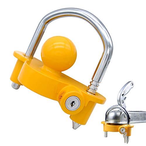 OKLEAD Universal Coupler Lock Trailer Locks Ball Hitch Trailer Hitch Lock Adjustable Security...