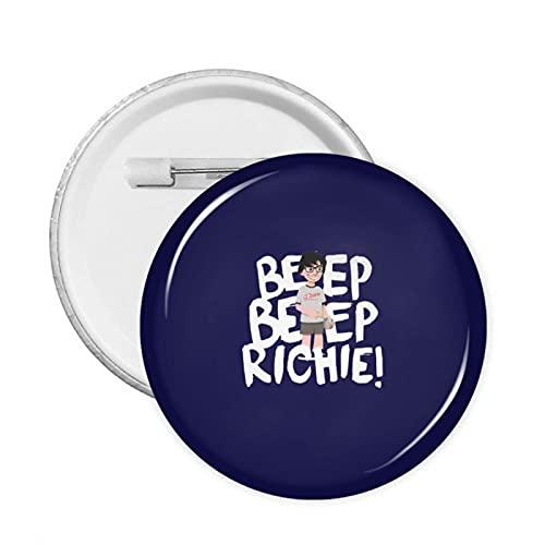 Pin de metal personalizado de 58 mm de pitido Richie, ideal como regalo de cumpleaños