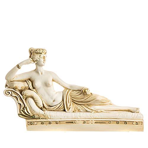 Venus Victrix Pauline Bonaparte Canova Estatua Escultura Alabastro tono dorado hecho a mano artefactos antiguos griegos