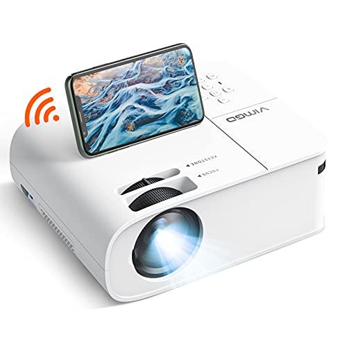 VIMGO Projector, Full HD 1080P 9500Lux Mini Projector, 5G Wireless Synchronized Screen Mirroring...
