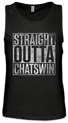 Urban Backwoods Straight Outta Chatswin Heren Tank Top Training Gym Shirt
