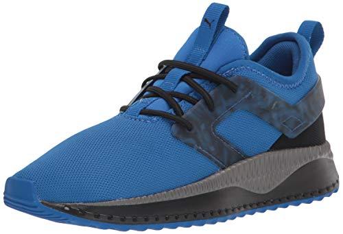 PUMA Pacer Sneaker, Lapis Blue Black-Castlerock, 3.5 US Unisex Big Kid