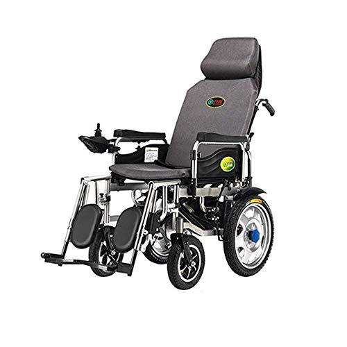 SISHUINIANHUA Elektrischer Old Age Simplicity-Rollstuhl - Seniorenbehindert Vollentsorgter Old Age Simplicity-Rollstuhl, Faltbarer, tragbarer Allrad-Rollstuhl
