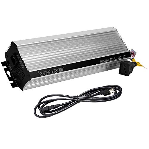 VIVOSUN 1000 Watt Dimmable Electronic Digital Ballast - Enhanced Internal Fan Cooled Operation 25% Less Heat Generated for 15% Longer Service Life