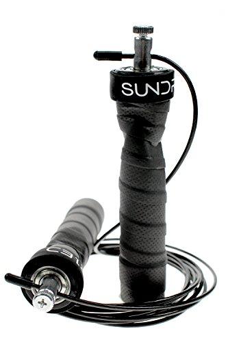 Sundried - Cuerda de Saltar para Ejercicios de Fitness, Cuerda de Boxeo y Velocidad (Incluye 2 Cables y Funda de Transporte)