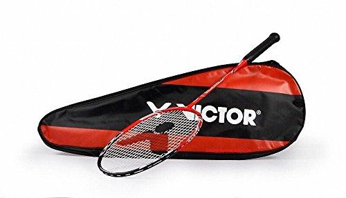 VICTOR Badminton Schläger US Speed Deluxe (Engineered in Germany) (Rot) Badmintonschläger
