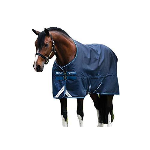 HORSEWARE AMIGO TURNOUT LITE Weidedecke, 140 cm, blau/silber