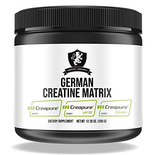 German Creatine Matrix I Creapure® I Creatine Monohydrate I Kreatin pH 10 I Creatin Citrate