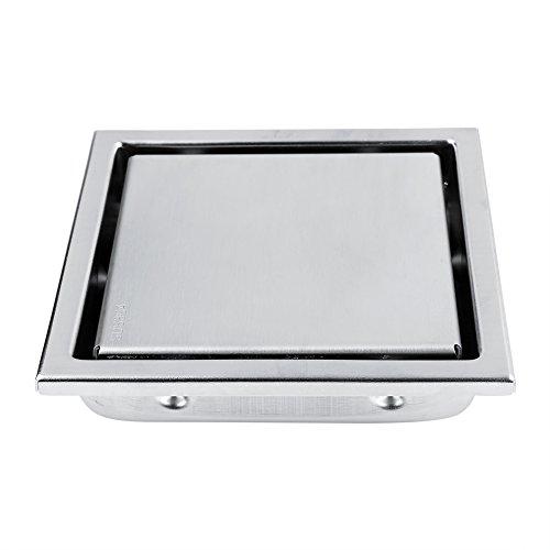 Garosa Duschablauf mit Abnehmbarer Quadratisch Muster Edelstahl für Küche Waschküche Badezimmer Zubehör
