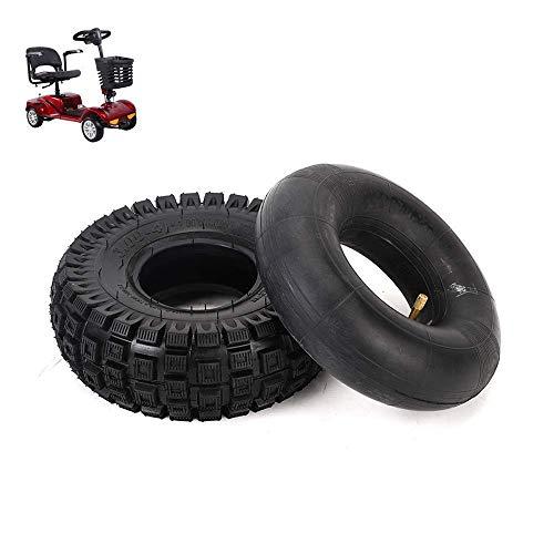 Neumáticos de Scooter eléctrico, 3.00-4 neumáticos Todoterreno Resistentes al Desgaste y Patines,...