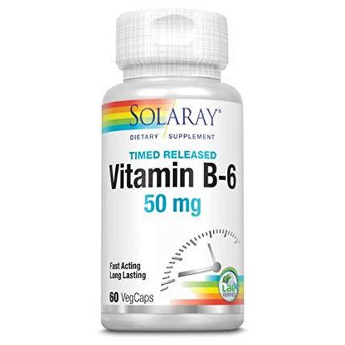 Solaray Vitamin B-6 50mg | Acción Retardada | 60 VegCaps