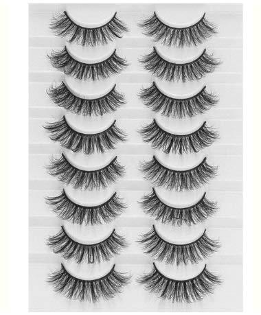 YTG 8 Paare 3D Mink Falsche Wimpern Natürliche Rauchartig Flauschig Dramatic Volume Gefälschte Lashes Verlängerung Handmade Cruelty freie Wimper (Color : A15)