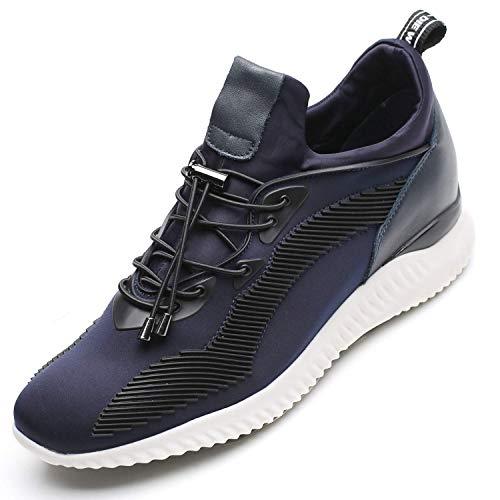 CHAMARIPA Zapatos con Alzas Interiores para Hombres - 7CM Qu