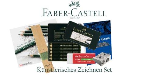 Faber-Castell 119064 CASTELL 9000 - Estuche de 12 lápices de grafito (5B - 5H), color Komplettset