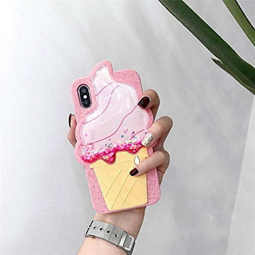 KESHOUJI 3D Strawberry Dynamic Liquid Quicksand Star Funda para teléfono para iPhone 8 Plus Funda 7 XR 6 Plus Funda de Silicona Suave con Purpurina de piña, Estilo 5, para iPhone 7 8