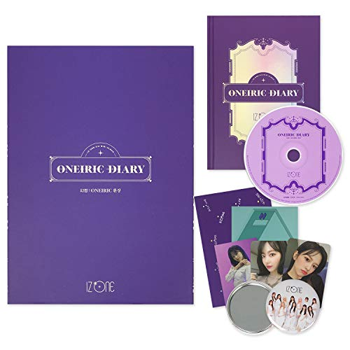 IZONE 3rd Mini Album - ONEIRIC DIARY [ ONEIRIC ver. ] CD + Photobook + Photocards + AR Card + AR Postcard + Iz*Room Sticker + OFFICIAL POSTER + FREE GIFT