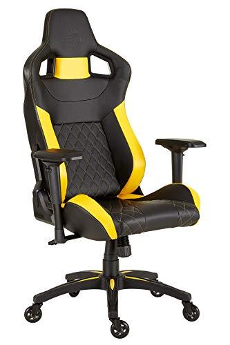 CORSAIR WW T1 Gaming Chair Racing Design, Black/Yellow