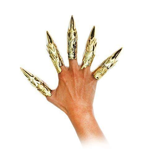 Womens / Girls Golden Finger Claw Rings - Goth / Steampunk