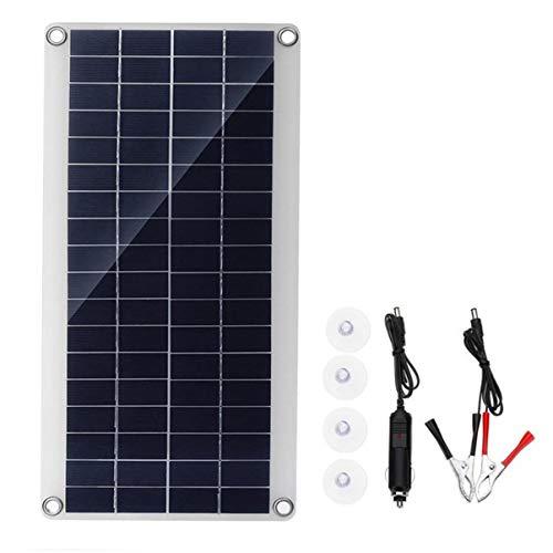 FHJZXDGHNXFGH-IT Modulo Flessibile a Celle solari a Pannello in polisilicio da 25 W con Pannello Solare per Caricabatterie Esterno per Barca 5V per Batteria da 5 V per Yacht per Auto