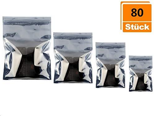 beihuazi® 80 Stück ESD Beutel Antistatik ESD Abschirmbeutel wiederverschließbare Antistatische Tasche für PC Zubehör empfindliche Elektronikteile