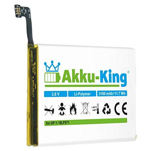 Akku-King Akku kompatibel mit OnePlus BLP571 - Li-Polymer 3100mAh - für One, A0001